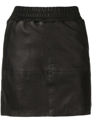 Vera leather skirt Munderingskompagniet. Цвет: черный
