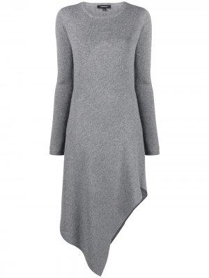 Трикотажное платье Barbara Bui. Цвет: серый