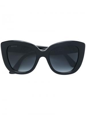 Oversized cat-eye sunglasses Gucci Eyewear. Цвет: черный