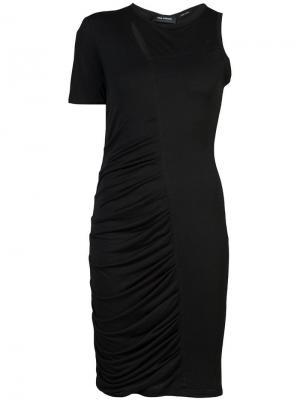 Платье на одно плечо со сборкой Yigal Azrouel. Цвет: черный