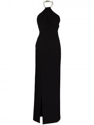 Вечернее платье Danette с вырезом халтер Solace London. Цвет: черный