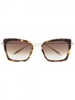Солнцезащитные очки Perplexer Dita Eyewear. Цвет: золотистый