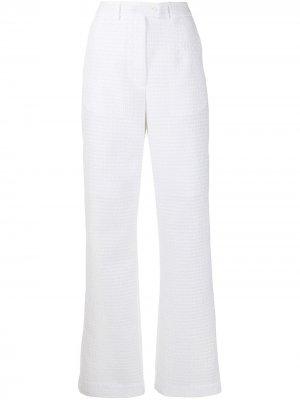 Прямые брюки Sonja Cecilie Bahnsen. Цвет: белый
