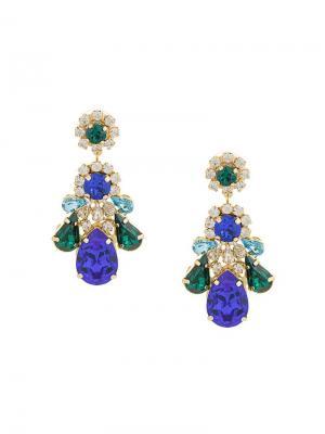 Crystal drop earrings Shourouk. Цвет: разноцветный