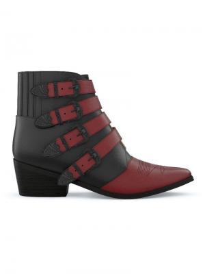Кастомизируемые ботинки AJ006 Toga Pulla. Цвет: черный