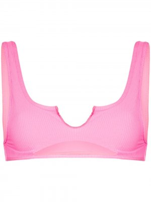 Лиф бикини Cole с вырезом Frankies Bikinis. Цвет: розовый