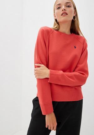 Свитшот Polo Ralph Lauren. Цвет: коралловый