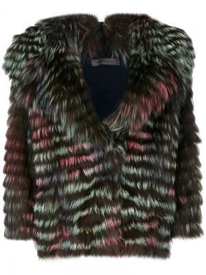 Куртка с большими лацканами Simonetta Ravizza. Цвет: многоцветный
