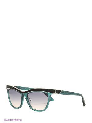 Солнцезащитные очки SK 0075 96P Swarovski. Цвет: бирюзовый
