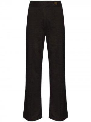 Широкие укороченные брюки Stella USISI SISTER. Цвет: черный