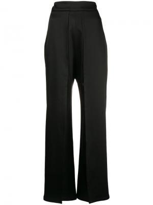 Расклешенные брюки с крупными складками Sid Neigum. Цвет: черный