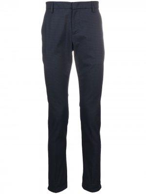 Клетчатые брюки прямого кроя Dondup. Цвет: синий