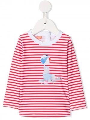 Рубашка в полоску Sunuva. Цвет: белый