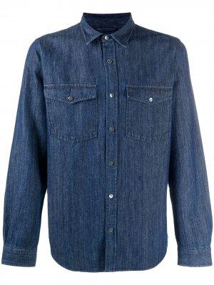 Джинсовая рубашка с длинными рукавами Closed. Цвет: синий