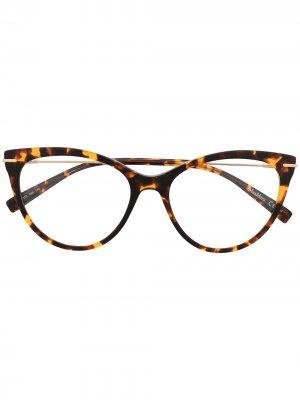 Очки в оправе черепаховой расцветки Max Mara. Цвет: коричневый