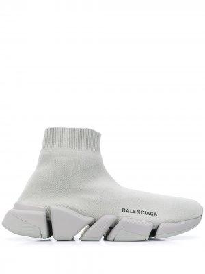 Кроссовки-носки Speed 2.0 LT Knit Sole Balenciaga. Цвет: серый