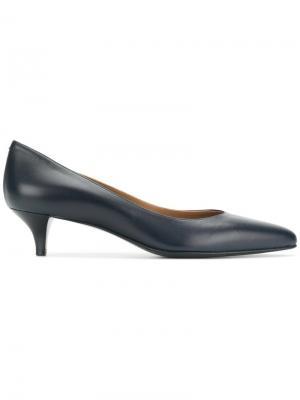 Классические заостренные туфли Hermès Vintage. Цвет: синий