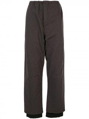 Пижамные брюки tailor Y/Project. Цвет: коричневый