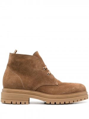 Ботинки дезерты на шнуровке Gianvito Rossi. Цвет: коричневый