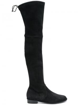 Сапоги по колено Stuart Weitzman. Цвет: черный