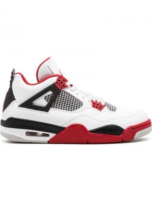 Кроссовки Air  4 Retro Jordan. Цвет: белый
