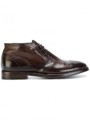 Туфли на шнуровке Alberto Fasciani. Цвет: коричневый