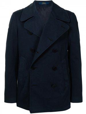Двубортный бушлат Polo Ralph Lauren. Цвет: синий
