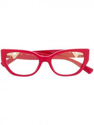 Очки с логотипом VLogo Valentino Eyewear. Цвет: красный