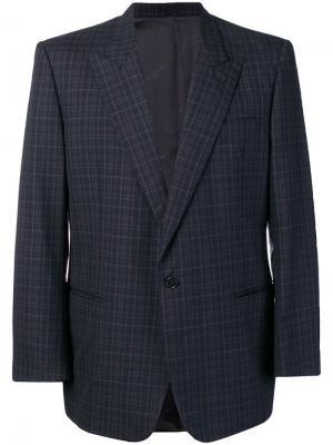 Пиджак в клетку Pierre Cardin Pre-Owned. Цвет: синий