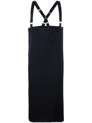 Юбка с подтяжками Ys Yohji Yamamoto Vintage. Цвет: синий