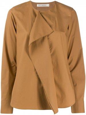 Блузка Dorrin с оборками Lis Lareida. Цвет: коричневый