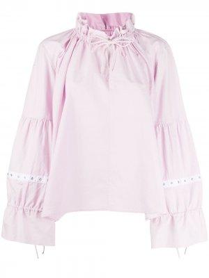 MarquesAlmeida блузка оверсайз с завязками на воротнике Marques'Almeida. Цвет: розовый