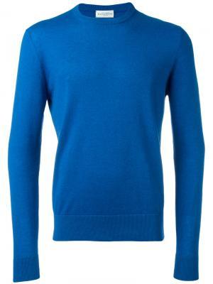 Пуловер кроя слим Ballantyne. Цвет: синий