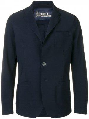Джинсовая куртка Herno. Цвет: синий