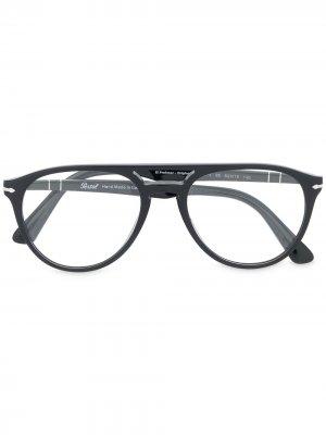 Солнцезащитные очки с двойным мостом Persol. Цвет: черный