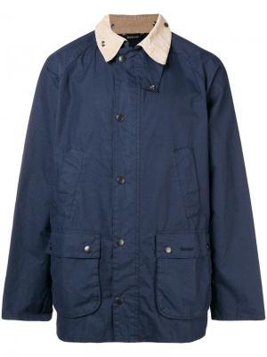 Выбеленная куртка Beadle Barbour. Цвет: синий
