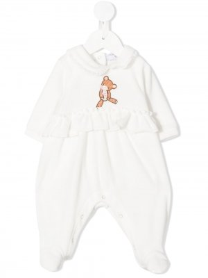 Пижама с оборками Monnalisa. Цвет: белый