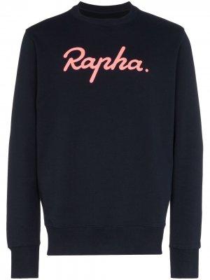 Толстовка с вышитым логотипом Rapha. Цвет: синий