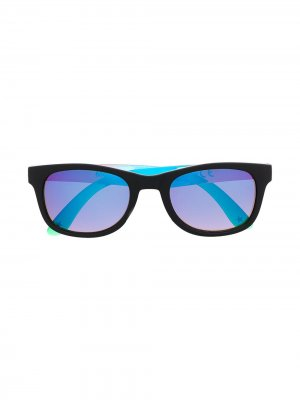 Солнцезащитные очки с зеркальными линзами Molo. Цвет: черный