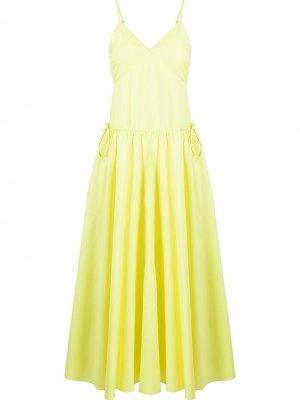 Платье на тонких бретелях Jason Wu. Цвет: желтый