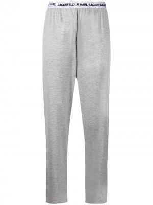 Пижамные брюки с логотипом Karl Lagerfeld. Цвет: серый