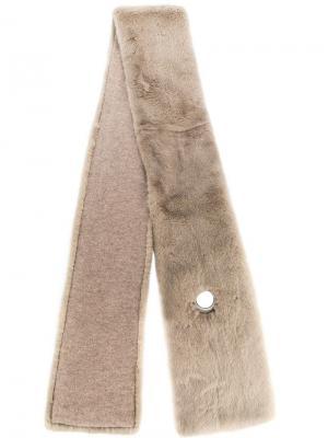 Удлиненный норковый шарф Liska. Цвет: нейтральные цвета