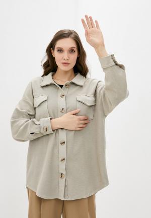 Рубашка Y.Two. Цвет: бежевый