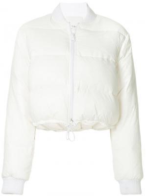 Укороченная двухсторонняя куртка Gus Tibi. Цвет: белый