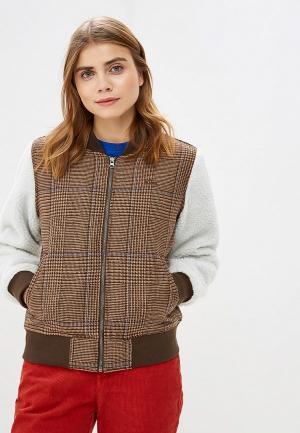 Куртка утепленная Vans. Цвет: разноцветный