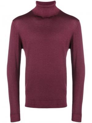 Тонкий вязаный свитер с высоким воротом Altea. Цвет: синий