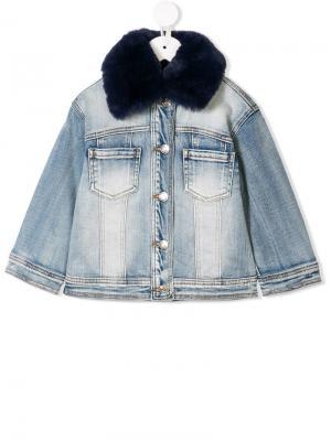 Джинсовая куртка Dream Monnalisa. Цвет: синий