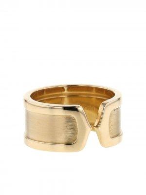 Золотое кольцо Open C de  2000-го года Cartier. Цвет: золотистый