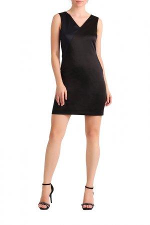 Сатиновое платье Apart. Цвет: черный