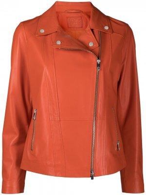 Приталенная байкерская куртка Desa 1972. Цвет: оранжевый